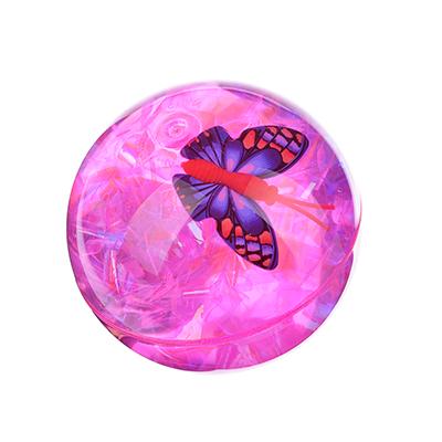 """295-049 Мяч световой """"Попрыгунчик прозрачный"""", ПВХ, 6,5см, 4 цвета"""