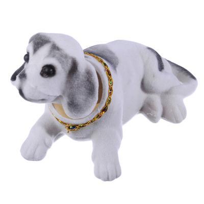 732-053 NEW GALAXY Собачка на приборную панель, ворс, пластик, 13x8см
