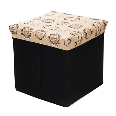 465-187 Пуфик-куб складной, ПУ, спанбонд, картон, 31х31х31см, до 80 кг, Фэшн