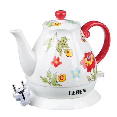 291-022 LEBEN Чайник электрический 1,7л, 1850Вт, скрытый нагр.элемент, автооткл., нерж, HHB1785