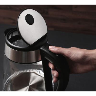291-030 LEBEN Чайник электрический 1,7л, 1850Вт, скрытый нагр.элемент, автооткл., стекло