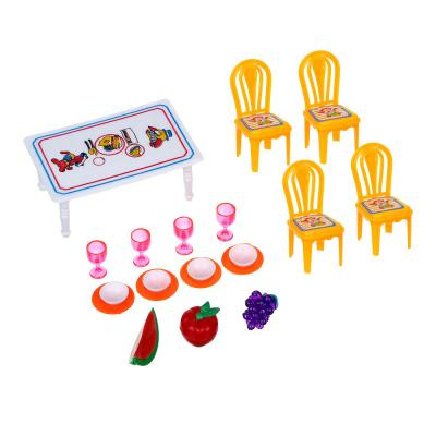 267-573 ИГРОЛЕНД Набор мебели и посуды для кукол, пластик, 13,5х11х10см, 967