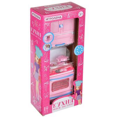 294-048 ИГРОЛЕНД Мебель для кукол Кухня, пластик, 15-17,5х8-9х36см, 3-6 дизайнов