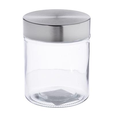 828-189 Банка для сыпучих продуктов, стальн. крышка, стекло, 700мл, 02-1088G-13