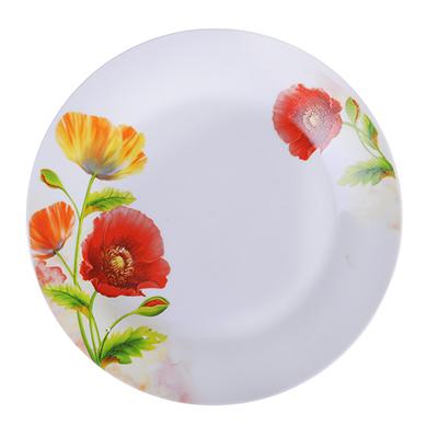 "821-696 Тарелка десертная фарфоровая, 19 см, ""Маки"""