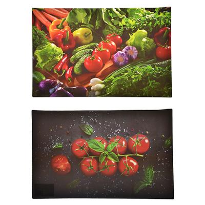 """890-313 Салфетка сервировочная, ПВХ, 43x28см, """"Овощное ассорти"""", 2 дизайна, Дизайн GC"""