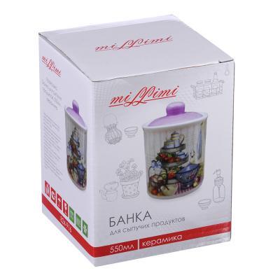 824-916 MILLIMI Хозяюшка Банка для сыпучих продуктов, 550мл, керамика