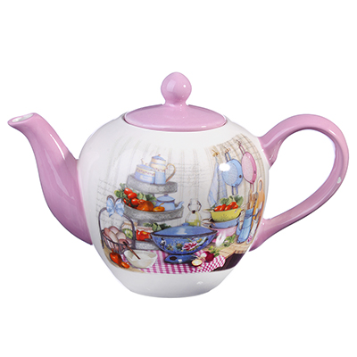 824-923 MILLIMI Хозяюшка Чайник заварочный, 1200мл, керамика