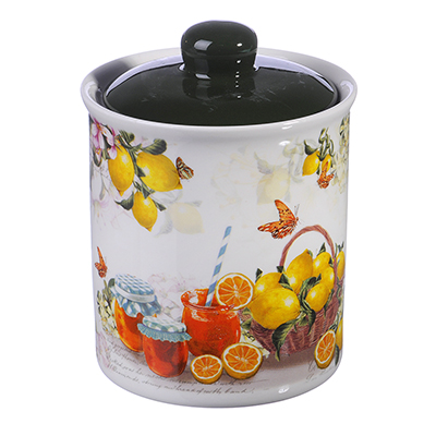 824-924 MILLIMI Лимонад Банка для сыпучих продуктов, 550мл, керамика