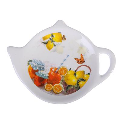 824-928 MILLIMI Лимонад Подставка для чайных пакетиков 12х8,4х1,5см, керамика