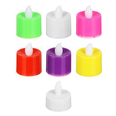 530-188 Фонари декоративные в виде свечей, пластик, LED, 4,5х4см, 6-7 цветов