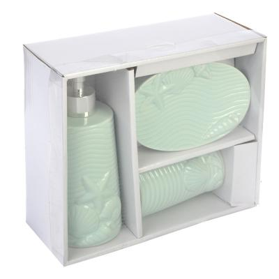 568-234 Набор для ванной 3 предмета, керамика, Морская фантазия