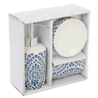 568-235 Набор для ванной 3 пр., керамика, Орнамент