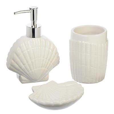 568-236 Набор для ванной 3 предмета, керамика, Ракушки