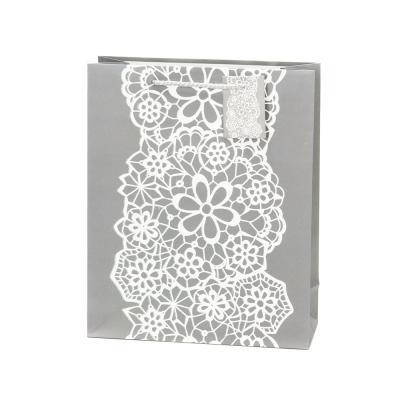 507-824 Пакет бумажный подарочный с кружевами, 26х32х10см, 4 дизайна, высококачественная бумага арт.2006
