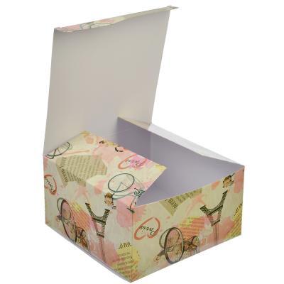 507-845 Коробка подарочная, складная, бумага, 16х16х8,5см, 6 дизайнов ГЦ, арт.05
