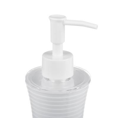 463-839 Дозатор для жидкого мыла VETTA  полосатый, пластик, 180мл,2 цвета