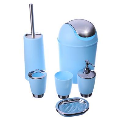 463-843 Набор для ванной 6 предметов, пластик, 2 цвета, VETTA