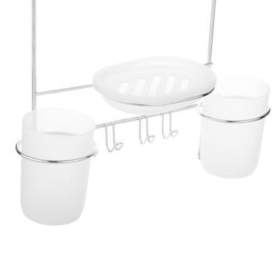 463-845 Полочка навесная для ванной комнаты с 2 стаканами,