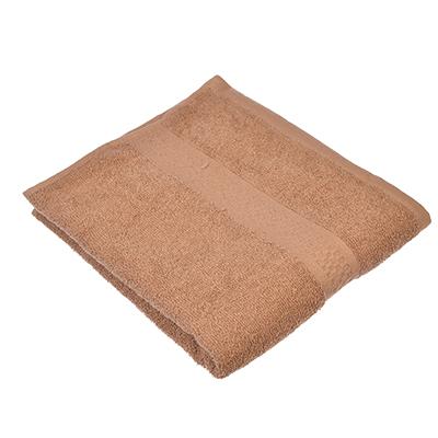 """489-105 Полотенце для лица махровое, хлопок, 50х90см, коричневое, """"Grace"""""""