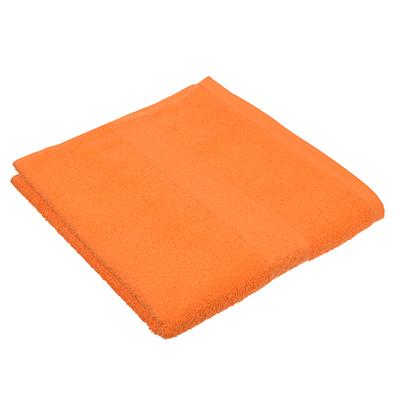 """489-106 Полотенце для лица махровое, хлопок, 50х90см, оранжевое, """"Grace"""""""