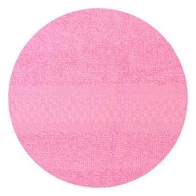 "489-108 Полотенце для лица махровое, хлопок, 50х90см, розовое, ""Grace"""