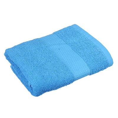 """489-110 Полотенце для лица махровое, хлопок, 50х90см, синее, """"Grace"""""""