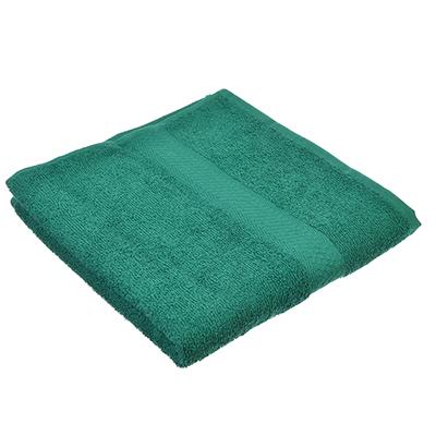 "489-112 Полотенце для лица махровое, хлопок, 50х90см, зеленое, ""Grace"""