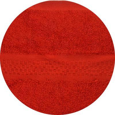 489-113 Полотенце для лица махровое красное 50х90см