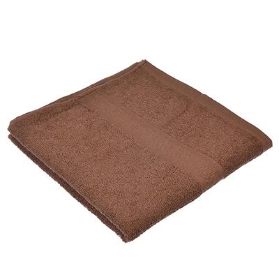 """489-115 Полотенце для лица махровое, хлопок, 50х90см, коричневое, """"Grace"""""""