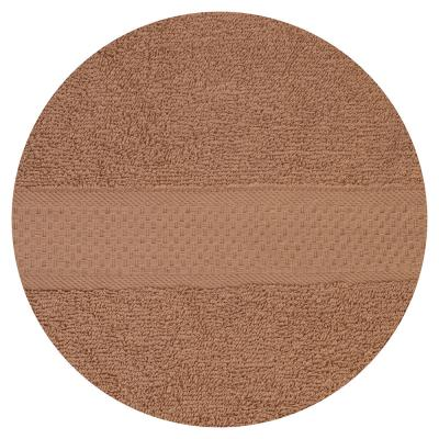 484-797 Полотенце банное махровое, 70х130см, коричневое