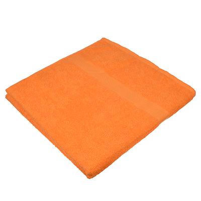 484-798 Полотенце банное махровое оранжевое 70х130см