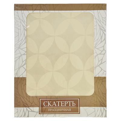 435-058 Скатерть на стол для кухни в подарочной упаковке, полиэстер, 140x220см