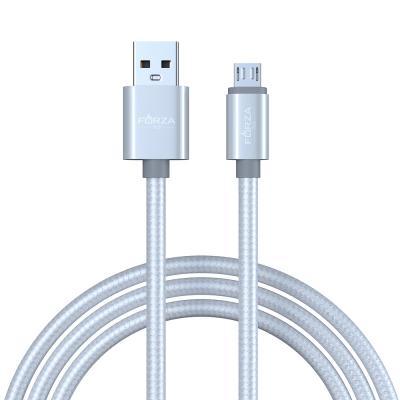 916-031 FORZA Кабель для зарядки Пастель Micro USB, 1.5м, 1.5А, перламутровая оплётка, 3 цвета, пакет