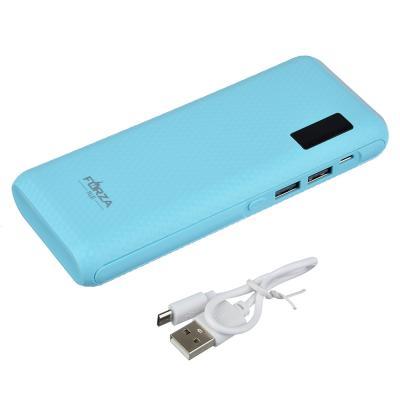 916-035 Аккумулятор мобильный FORZA 6000-8000 мАч, индикатор зарядки, фонарик, 1А, пластик, 4 цвета