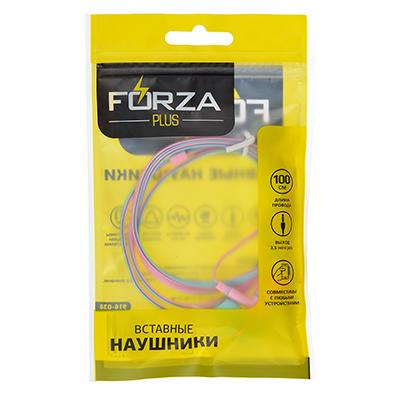 916-038 Наушники вакуумные FORZA розово-голубые, PP-пакет