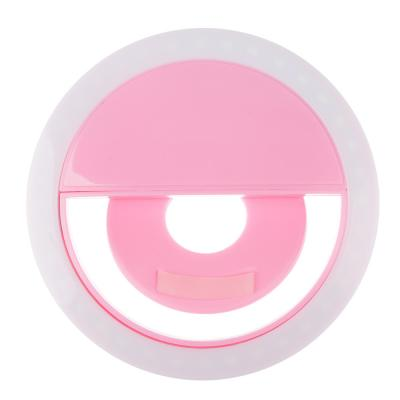 916-045 Световое кольцо для селфи FORZA пластик, 4 цвета