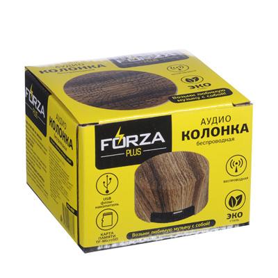 916-050 FORZA Аудио-колонка беспроводная, MicroSD, 500А., DC5V, Эко-стиль, пластик