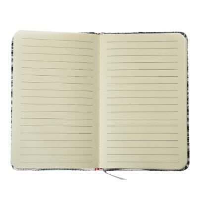 """574-008 Записная книжка А6, 80л., твердая обложка, резинка, закладка, PU, бумага, 4 дизайна, """"Вейв"""""""
