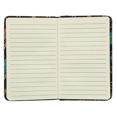 574-009 Записная книжка А6 80л., тв.обложка, резинка, закладка, PU, бумага, 4 дизайна