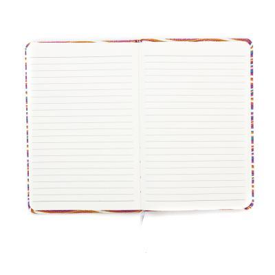 """577-001 Записная книжка А5 80л., тв.обложка, резинка, закладка, PU, бумага, """"Вейв"""", 4 дизайна"""