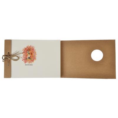 577-007 Записная книжка - скетчбук 13х19 см 100 листов, обложка крафт, шнуровка, без линовки