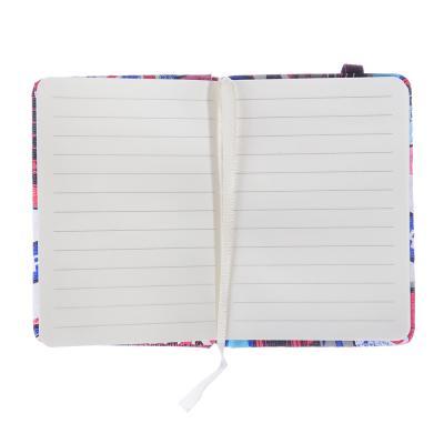 576-002 Записная книжка А7 80л., тв.обложка, резинка, закладка, PU, бумага, 4 дизайна
