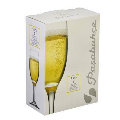 "878-329 Набор бокалов для шампанского 2шт., 190 мл, PASABAHCE ""Бистро"""
