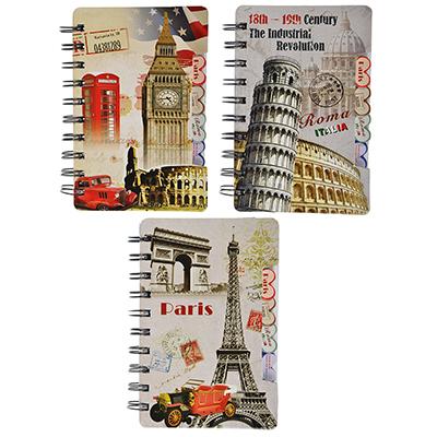 574-010 Записная книжка Города 60 листов, 3 дизайна