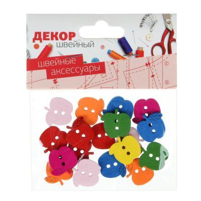 308-211 Декор швейный фигурный в наборе, дерево, 3-6 дизайнов, арт.1
