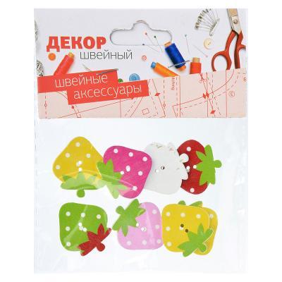 308-213 Декор швейный фигурный в наборе, дерево, 3-6 дизайнов, #3