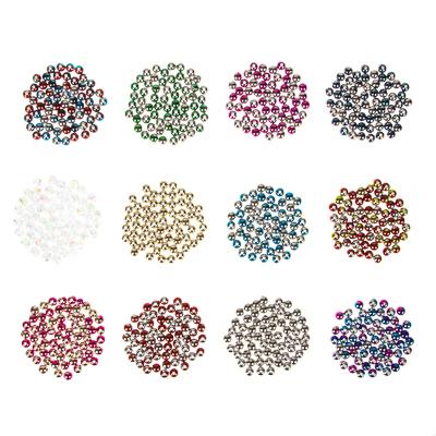 308-217 Декор швейный в виде перламутровых бусин, 12 цветов, пластик