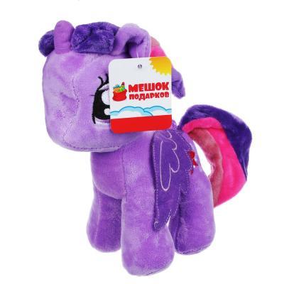 264-148 Игрушка мягкая Разноцветная коняшка, полиэстер, 19см, 6 цветов