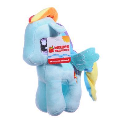 264-148 Мягкая игрушка Разноцветная коняшка, полиэстер, 19см, 6 цветов